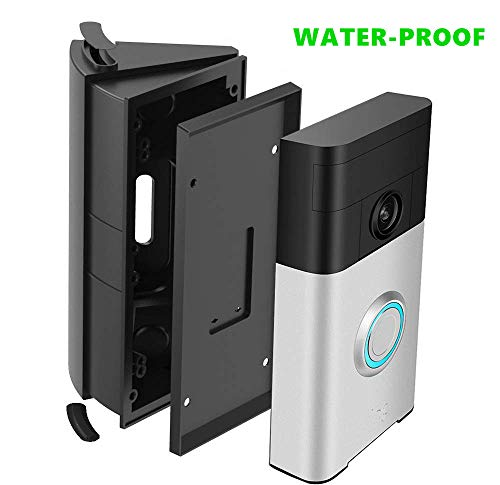 HOMONO Waterproof Adjustable 30 to 55 Degree Angle Mount for Ring Video Doorbell 2nd and 1st Angle Adjustment Adapter Mounting Plate Bracket Wedge Kit (Doorbell NOT Included)