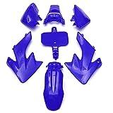 Carenatura moto For HON-DA XR50 CRF50 SSR 70CC 90CC 110CC 125CC MOTORIA DE MOTORIA CHARENEO DE CUBIERTA DE FENDER Partes del cuerpo moto (Color : Blue)