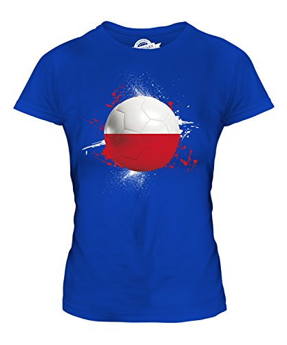 Candymix Polen Fußball Damen T Shirt, Größe Medium, Farbe Königsblau