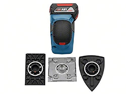 Bosch Professional 18V System Akku Schwingschleifer GSS 18V-10 (inkl. 2x 5.0 Ah Akku + Ladegerät, 3x Schleifblatt G120, 3x Schleifplatte, 1x Stanzwerkzeug, 1x Schraubendreher, L-BOXX 136)