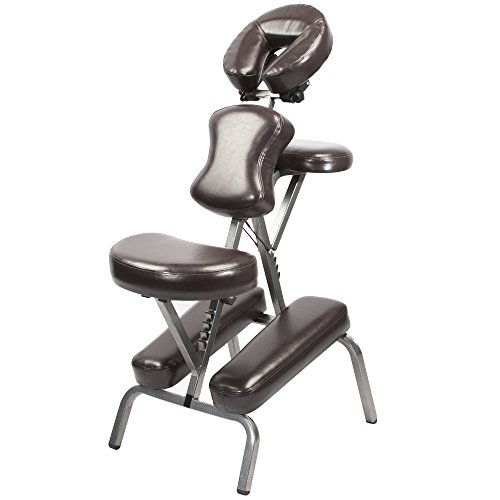 Master Massage Bedford Portable Light Weight Massage Chair with Carrying Case, Coffee (46463R)