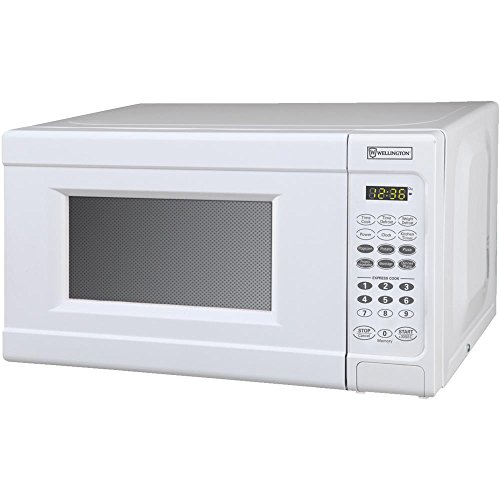 White 0.7 Cu Ft Microwave