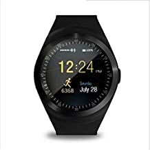 Y1 SmartWatch Touch Screen Support Micro SIM Card with Bluetooth 3.0 Camera Sleep Monitor Outdoor Fitness for iOS Android (Black)