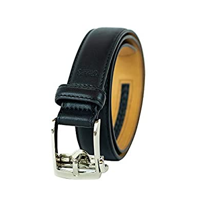 Chaps Boys' Big Perfect Adjustable Click to Fit Belt, black, Medium (26-28)