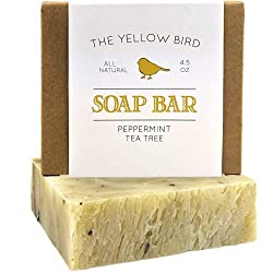 powerful Peppermint and tea tree soap. Natural antifungal soaps for acne, athlete's foot, ringworm, etc.