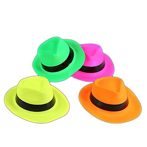 The Glowhouse 12 neón Gangster Sombreros plástico