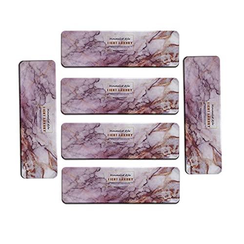 YOURAN Juego de 6 manteles individuales con diatomeas de mármol, absorbentes de secado rápido para jabón de secado rápido. Posavasos de diatomeas