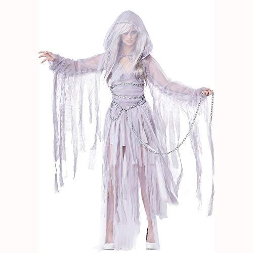 CAGYMJ Halloween Kostüm Damen Kleid,Cosplay Maskerade Vampir-Braut Kurzer Rock,Oktoberfest Ostern Kleidung Karneval Party