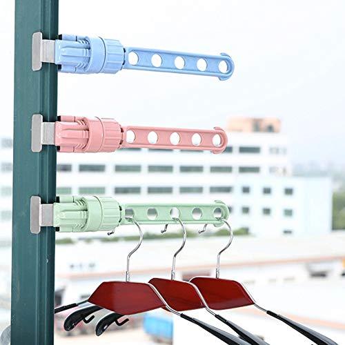Trockengestell Fensterrahmen Wäscheständer Kleiderständer,Colorful Tragbares Kleiderbügel Halter Fensterrahmen Tür Fensterbrett Balkon Wäscheständer Haken für drinnen draußen Reisen Hotel (Blau)