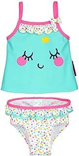 3598bb9656841 Petit Béguin - Maillot de bain 2 pièces top + slip bébé fille Hippo - Taille