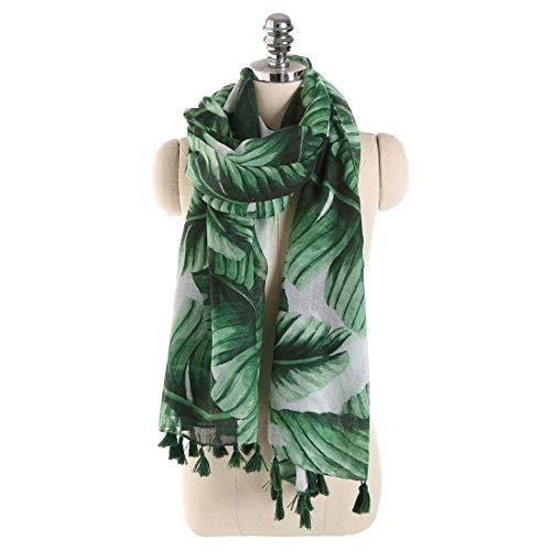 YYB-Scarf Bufanda Cómoda Práctica Travel Green Beach Towel para Damas Primavera Verano Bufanda cómoda (Color : Verde)