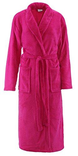 Brandsseller Bademantel Microfaser Unisex Damen & Herren - in der Größe: L/XL - in der Farbe: Pink