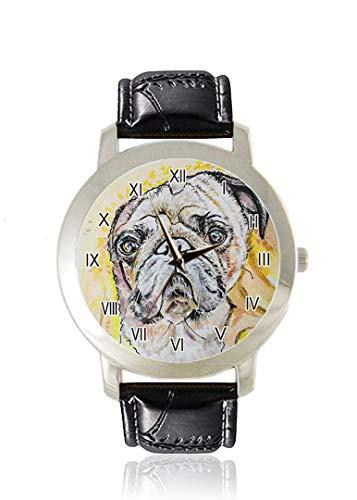 Reloj de Pulsera para Hombre con diseño de Perro Inteligente, Delgado, Minimalista, Impermeable,...