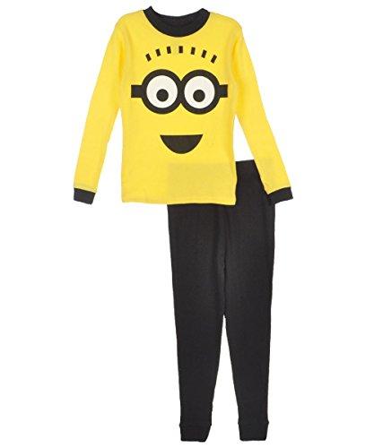 Despicable Me 2 Minion Cotton Pajamas for Big Boys (8), Yellow, Size 8