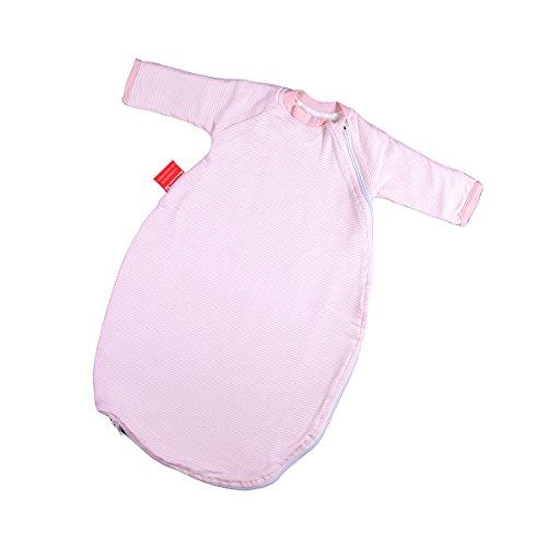 Hoppediz Baby-Schlafsack 44-50 rosé gestreift