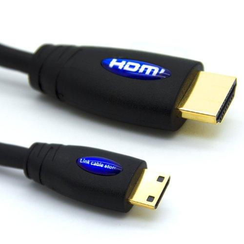 LCS - 1.8M - Mini HDMI Kabel 1.4 / 2.0 - FULL HD 1080p / Ultra HD 2160p - Hochgeschwindigkeits mit ETHERNET und 3D - Dreifach-Abschirmung - Vergoldete kontakte - Unterstützt neuen Technologien ARC - CEC - Deep Color und x.v.Color - Kompatibel mit dem neuen Tablet-PC