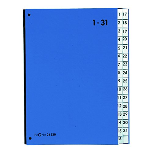 Pagna Pultordner Color (Pultmappe, 32 Fächer, 1-31) blau