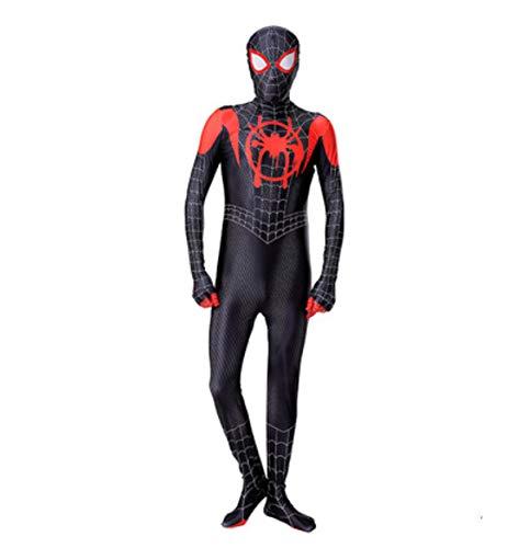 Spiderman Expeditie van Heroes Volwassen Kinderen Cosplay Kleine Zwarte Spider-Man Halloween Kostuum 3D afdrukken pak Spandex Lycra 150 Rood