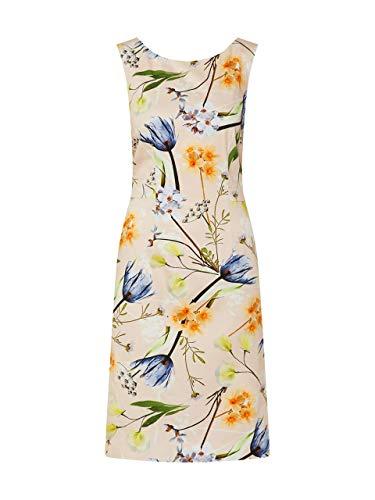 COMMA Damen 8T.003.82.5430 Kleid, Mehrfarbig (80C6 brown floral print), 38