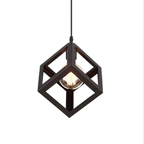 Retro Métal Plafonnier Suspensions Luminaire Lustre Industriel Vintage Style Noir Créatif Metal Suspensions Luminaire Eclairage Lampe Edison Culot Base E27 Plafonnier Luminaire