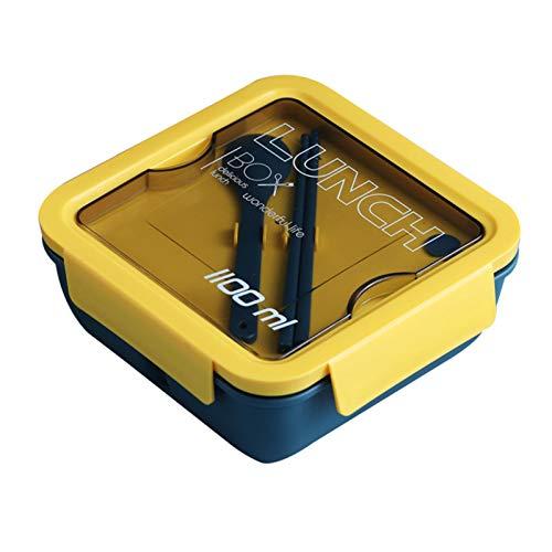 IrahdBowen Milieuvriendelijke Japanse lunchbox-vak lekvrije bento-lunchbox-etenshouder voor kinderen, studenten en…