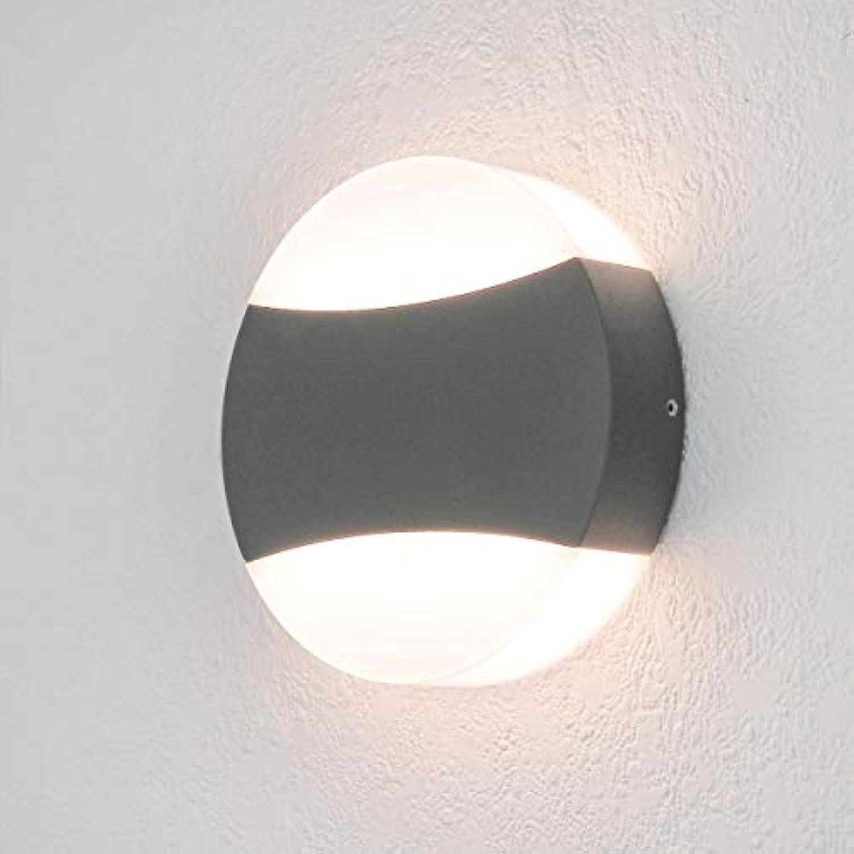 LED Auenleuchte Wandleuchte Anthrazit grau 12 Watt rund