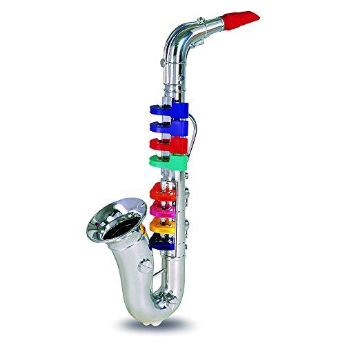 Bontempi 32 4331 Saxophon mit 8 farbigen Tasten/Noten. L. 415 mm