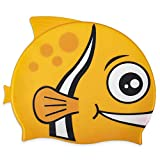 Fishy Fin Silicone Swimming and Diving Cap for Kids and Toddlers | Pool and Aquatic Sports...