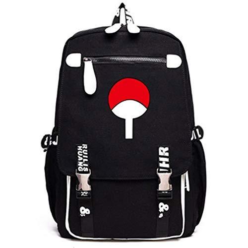 Mochila unissex Naruto Sharingan, mochila Akatsuki, bolsa escolar para estudantes, mochila de viagem, mochila impermeável para trilhas, Macio, 2, One_Size