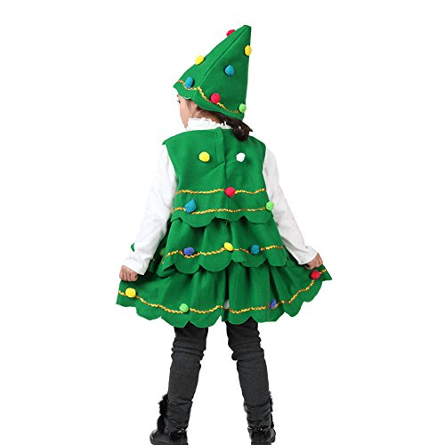 Vestiti Ragazze Natale Elegante Bambina Ragazze Natale Vestiti Bambino Abito Bambino Cerimonia Vestito di Bambina Ragazzi Ragazze Albero di Natale Costume Abito Cime Partito Gilet + Abiti Cappello