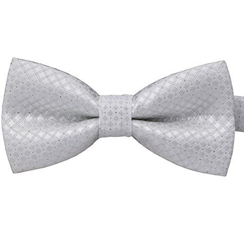 BAICFQUK Colorful Polka Dots Bow Tie,Adjustable Bowtie Fashion Accessories for Pet Dog Cat BT295 (White)