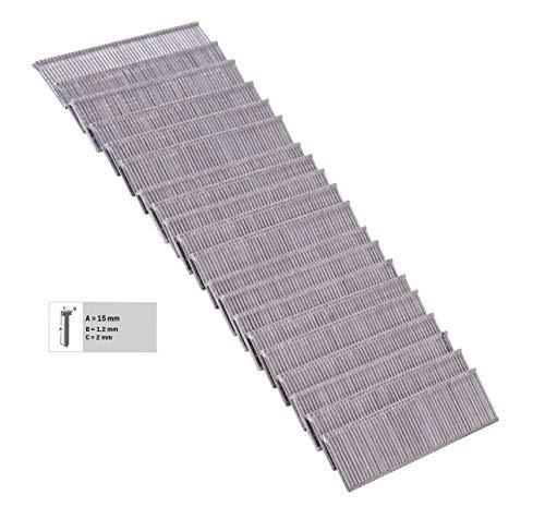 VONROC 1000 clavos de 15mm para grapadora eléctrica