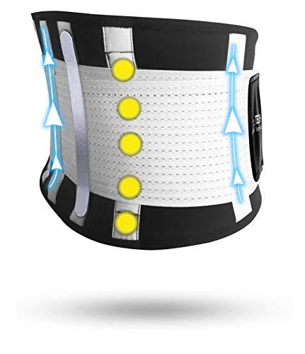 Ceinture Lombaire Support Dos Tech Therapeutics - Ceinture Lombaire de Soutien Ceinture Dorsale Élastique Abdominale Homme Femme Avec Attelles Flexibles Et Thérapie Magnétique Taille (XS-M)