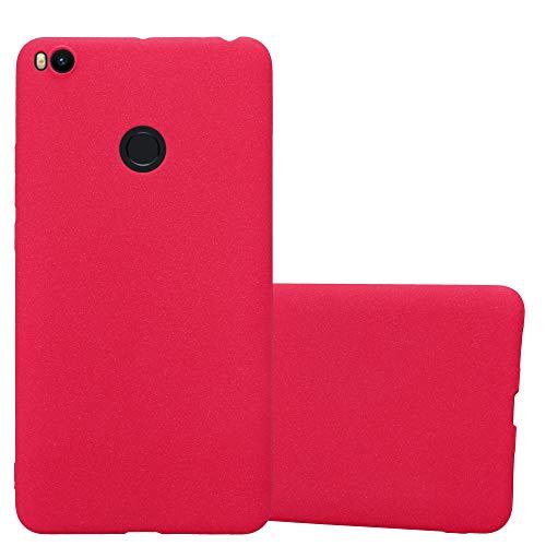 Cadorabo Funda para Xiaomi Mi MAX 2 en Frost Rojo - Cubierta Proteccíon de Silicona TPU Delgada e Flexible con Antichoque - Gel Case Cover Carcasa Ligera