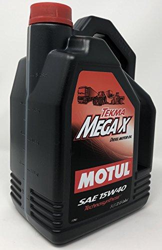 MOTUL Aceite Motor Lubricante SHPD Camión Tekma Mega X Sae 15W-40, 5 litros
