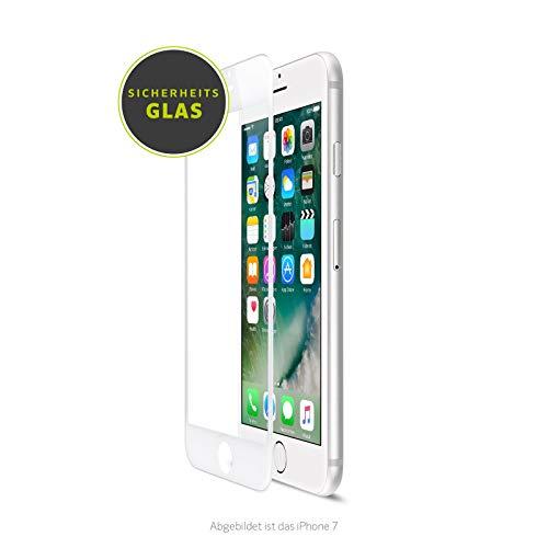 Artwizz CurvedDisplay geeignet für [iPhone SE (2020) / 8 / 7 / 6S / 6] - Displayschutz aus Panzerglas mit 100% Display-Abdeckung - Weiß