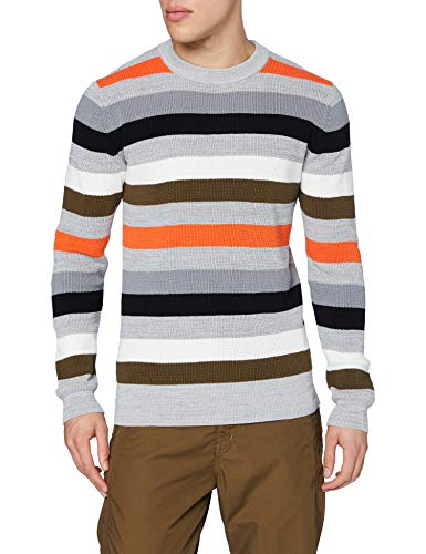 G-STAR RAW Multi Stripe Maglione, Steel Grey B154-B959, M Uomo