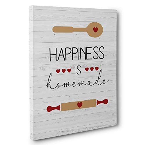 Happiness Is Homemade Kitchen Canvas Wall Art