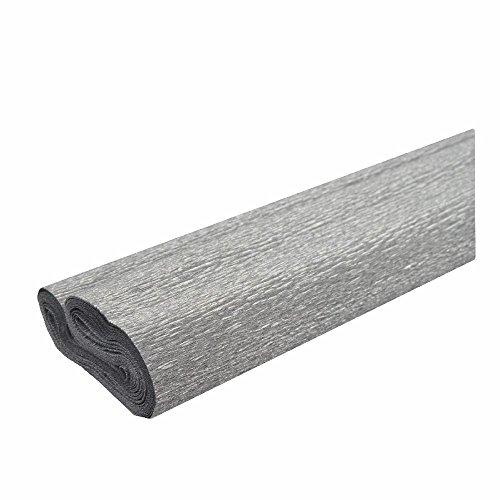 Krepppapier silber 50x250 cm Rolle färbt nicht ab bei kontakt mit Wasser