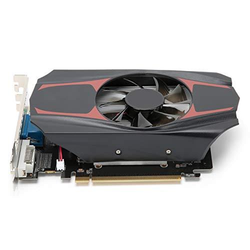 Dpofirs Professionelle HD7670 4 GB DDR5 128-Bit-Gaming-Grafikkarte, rauscharme Videospeicherkarte Für AMD, 650-MHz-Kernfrequenz, mit PCI Express 3.0-Grafikkartensteckplatz
