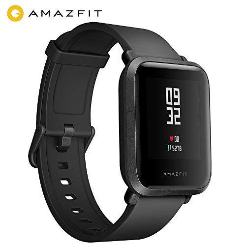 AMAZFIT Bip Smartwatch Lite Youth GPS Smart Watch Orologio Sportivo Cardiofrequenzimetro IP68 Impermeabile Fitness Tracker Barometro, App Italiano, Nero