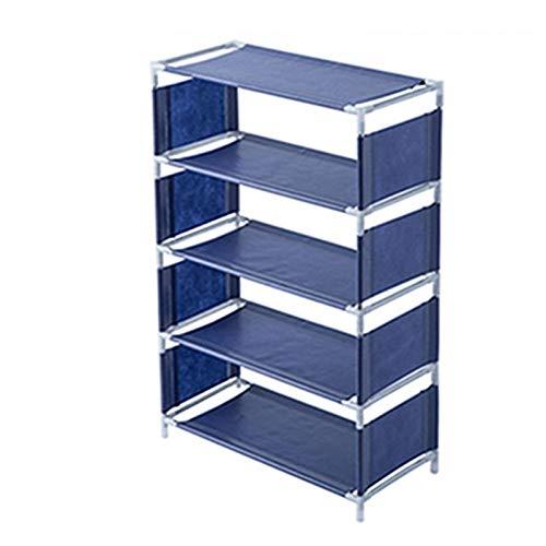 Zapatero de Almacenamiento Multifuncional Simple Shoe Rack Shoe Rack Dormitorio Almacenamiento Sólido Madera Trípode Zapato Rack Life Storage Rack Fácil de Montar y Ahorrar Espacio.