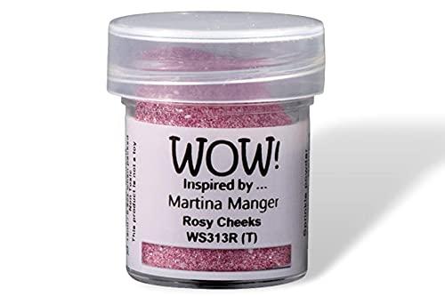 Wow! Purpurina en relieve con purpurina de 15 ml   Mejillas rosas   Libera tu creatividad y da tu chispa en relieve