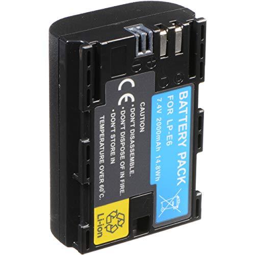 Movttek France - Batería para cámaras EOS DSLR LP-E6, 2600 mAh, para Canon EOS 80D, 6D, 7D, 70D, 60D, 5D Mark III, 5D Mark II, BG-E14, BG-E11, BG-E9, BG-E7, LC-E6, BG-E6