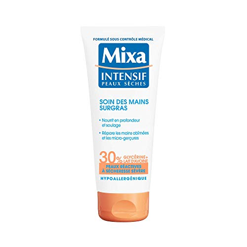 Mixa Intensif Peaux Sèches - Soin des Mains Surgras pour Peaux Réactives à Sécheresse Sévère - 100 ml