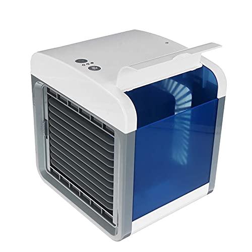 SONG Aire Acondicionado Portátil, Enfriador De Aire Silencioso De 3 Velocidades Humidificación Evaporativa Coche Familiar Mini Ventilador De Refrigeración con Alimentación