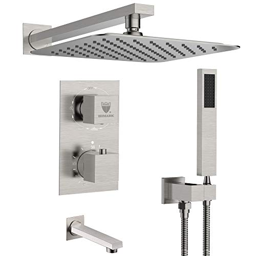 HIMK Shower system,Shower Faucet Set with Tub Spout for Bathroom and 10' Square Rain Shower Head...