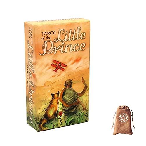 Tarot de los pequeños Tarjetas del Príncipe Oracle, con Bolsa de Almacenamiento de Terciopelo,Tarot of The Little Prince Oracle Cards