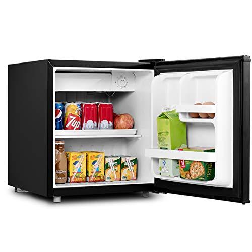 DREAMADE Frigorifero Mini Frigo 48L 230V con congelatore e 3 Ripiani per Casa Dormitorio Bar Hotel (Nero)