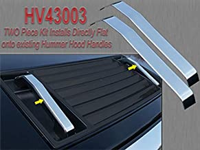 QAA fits 2003-2009 Hummer H2 (2 Piece Stainless Hood Handle Accent Trim, Installs Flat onto existing Hood Handles.) HV43003